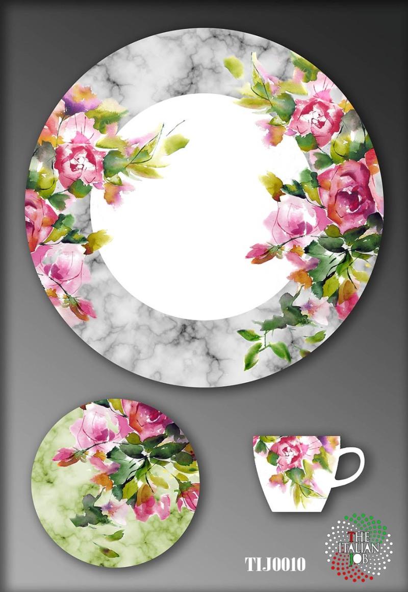 陶瓷图案花卉设计