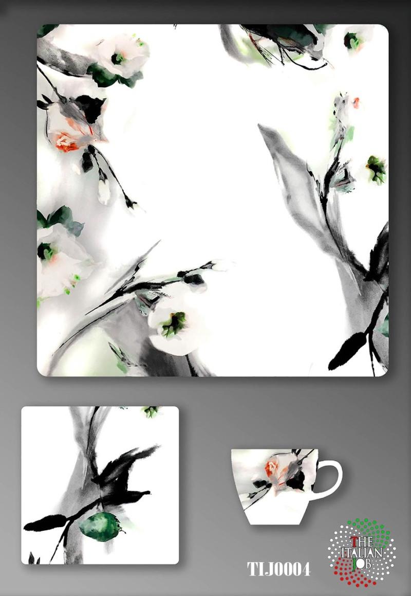 水墨风陶瓷图案设计