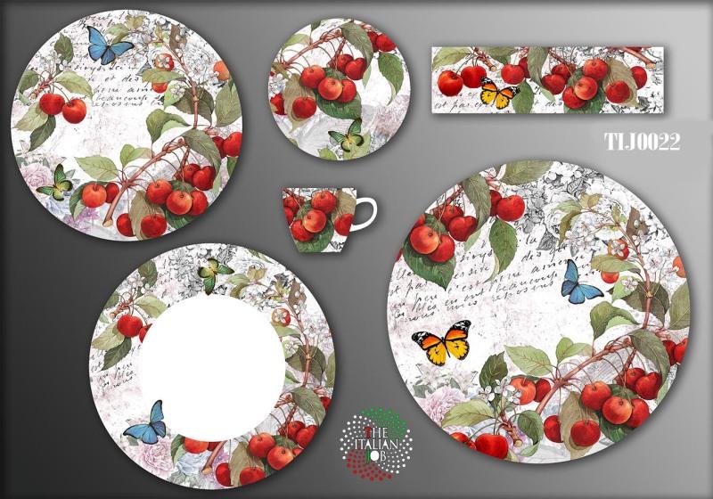 植物陶瓷花纸设计