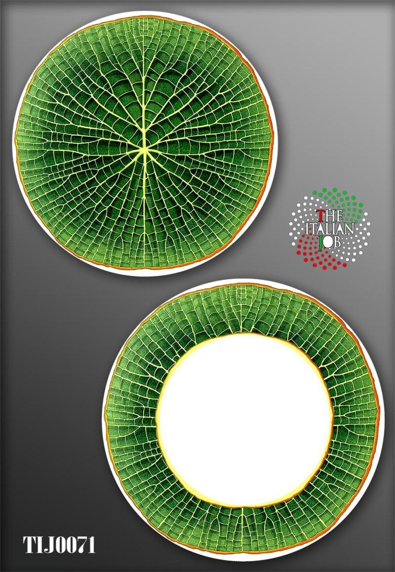 陶瓷图案叶子主题