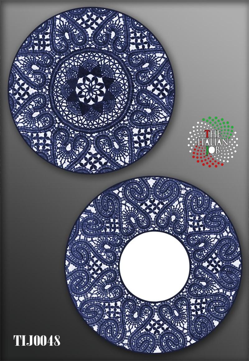 陶瓷圖案藍白色主題