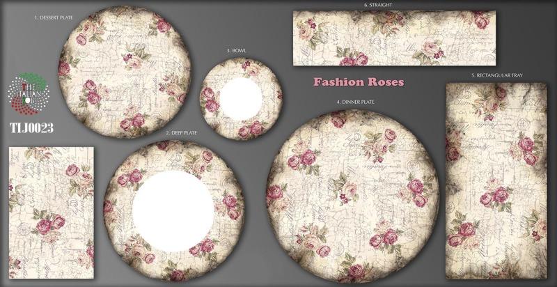 玫瑰陶瓷图案设计