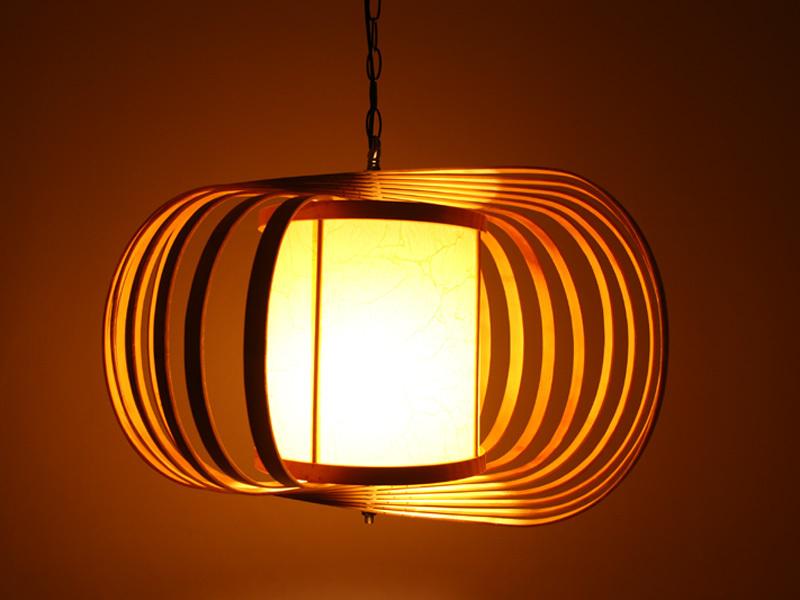 折叠竹吊灯