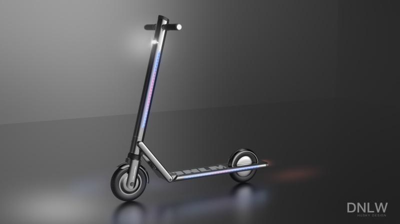 带灯电动滑板车