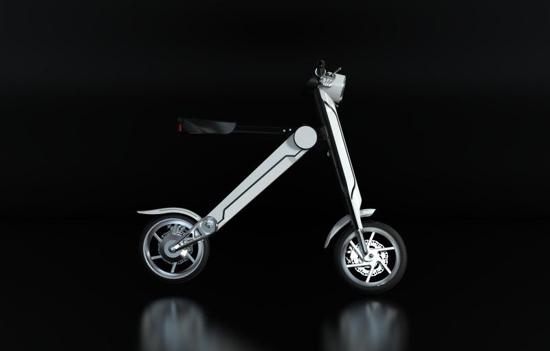 折叠便携电动车外观造型设计