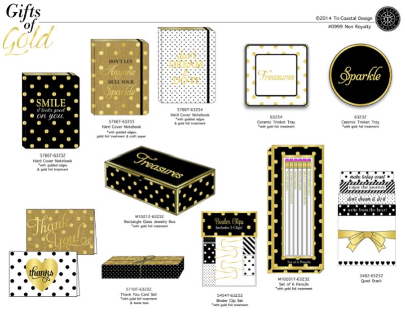 金色礼品套装设计