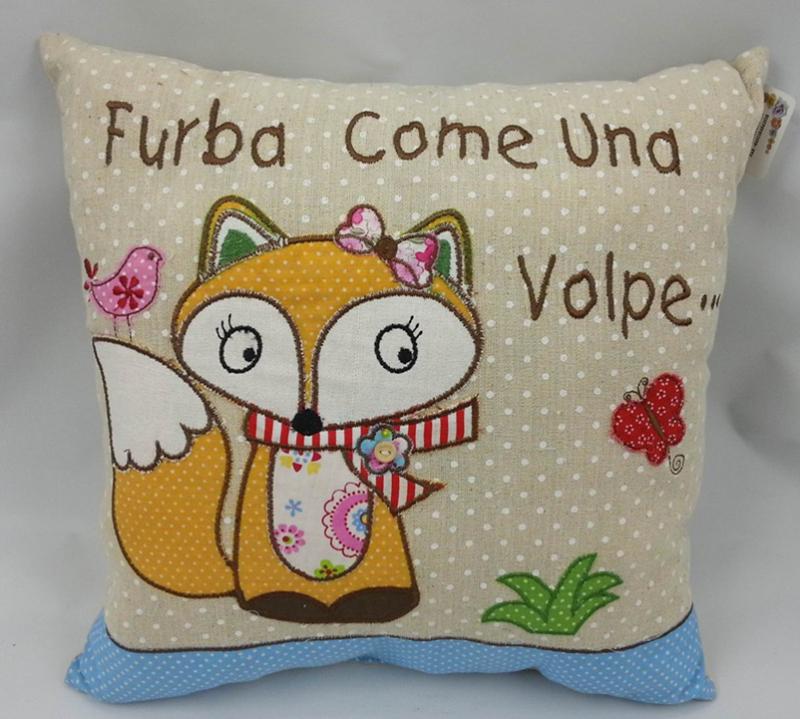 狐狸图案抱枕