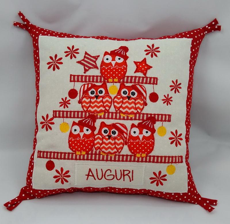 圣诞节猫头鹰抱枕