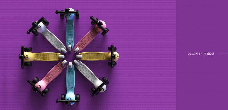 台球系列-儿童滑板车
