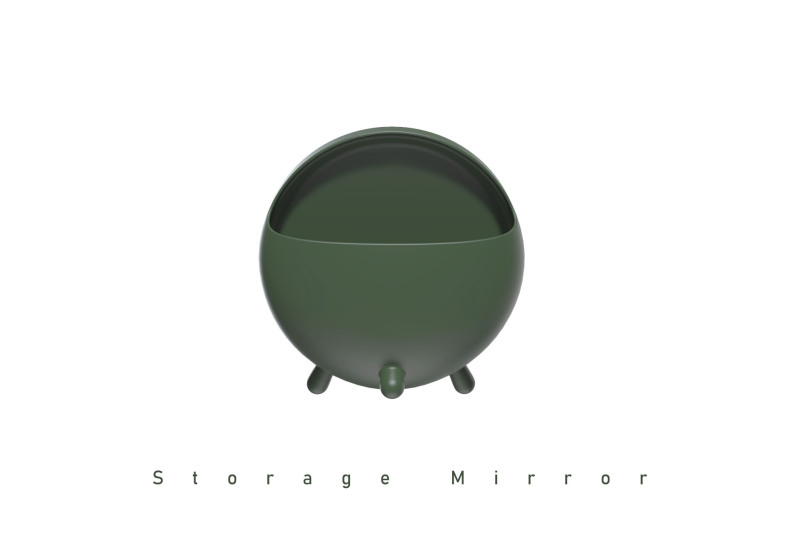 简约储物台镜