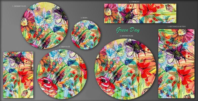 花卉陶瓷图案设计