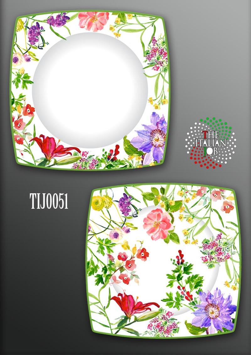 花卉陶瓷盤設計
