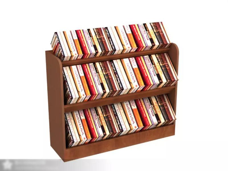 公司圖書館布置及書架設計效果圖