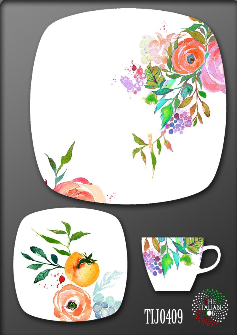 手绘花卉陶瓷花纸设计