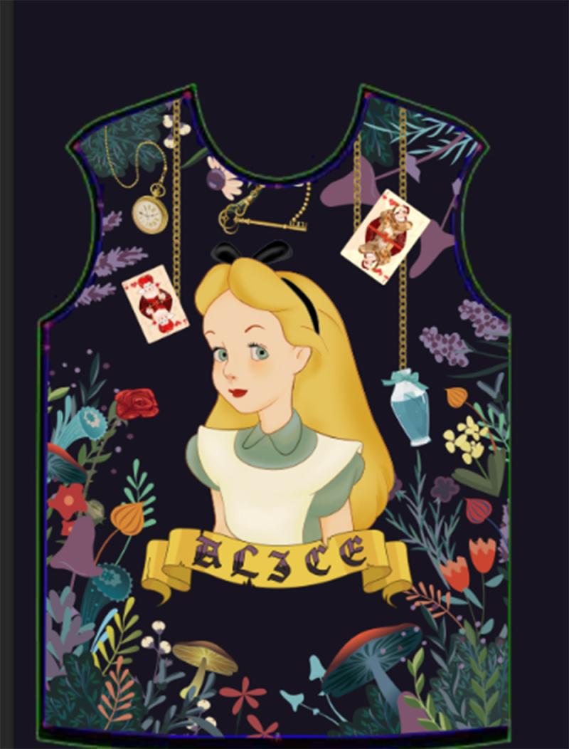 愛麗絲秘境T恤套裝