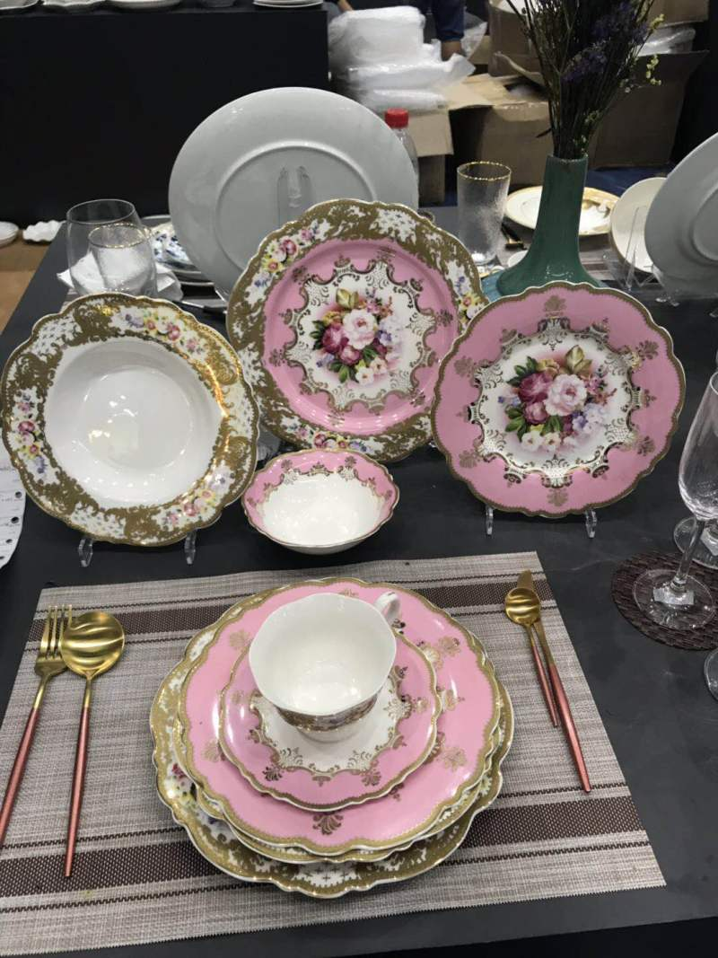 歐式花卉餐具