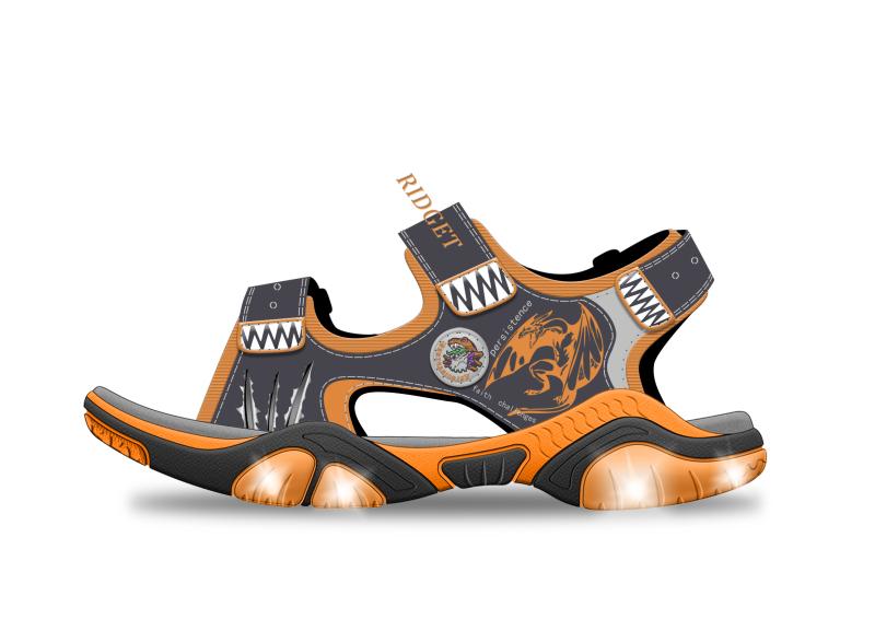童涼鞋燈鞋設計
