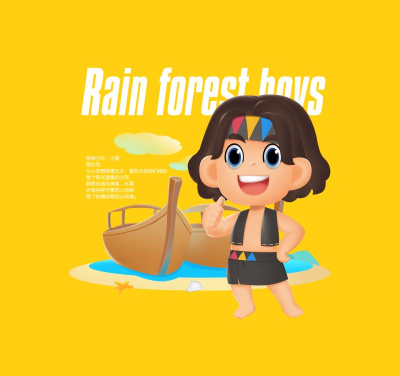 海南芒果品牌吉祥物设计