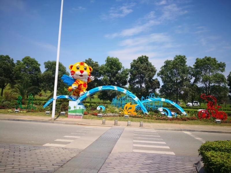 园林景观雕塑组合