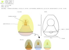 佛教琉璃佛像台灯