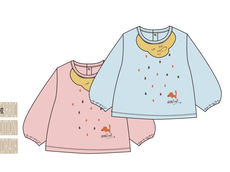 卡通婴儿罩衣