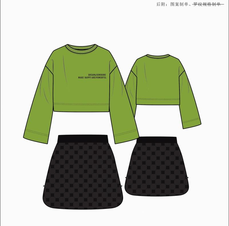 女装卫衣套设计