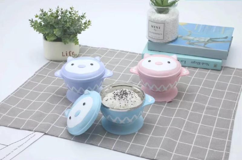 小刺猬儿童餐碗