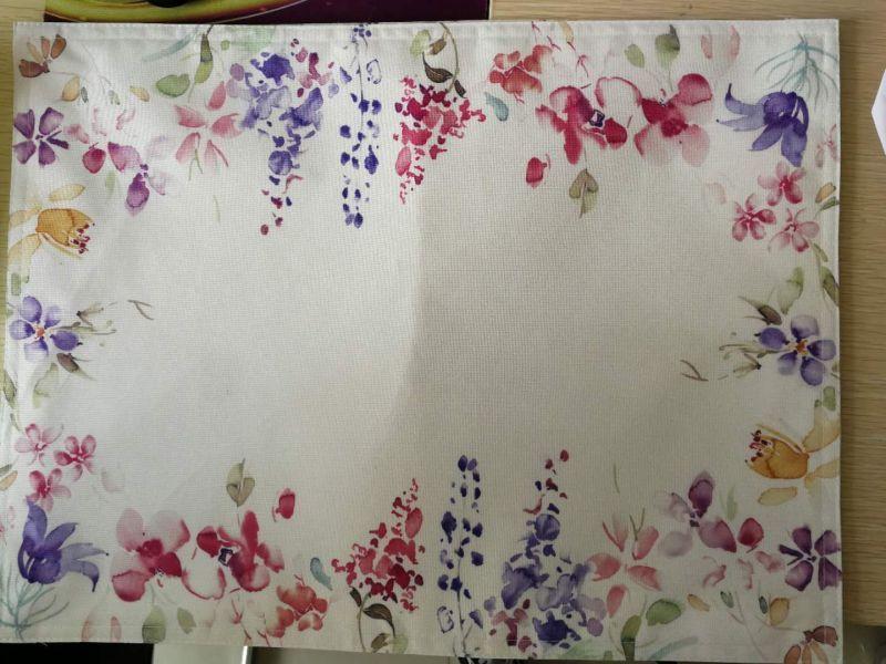水彩花台布餐垫