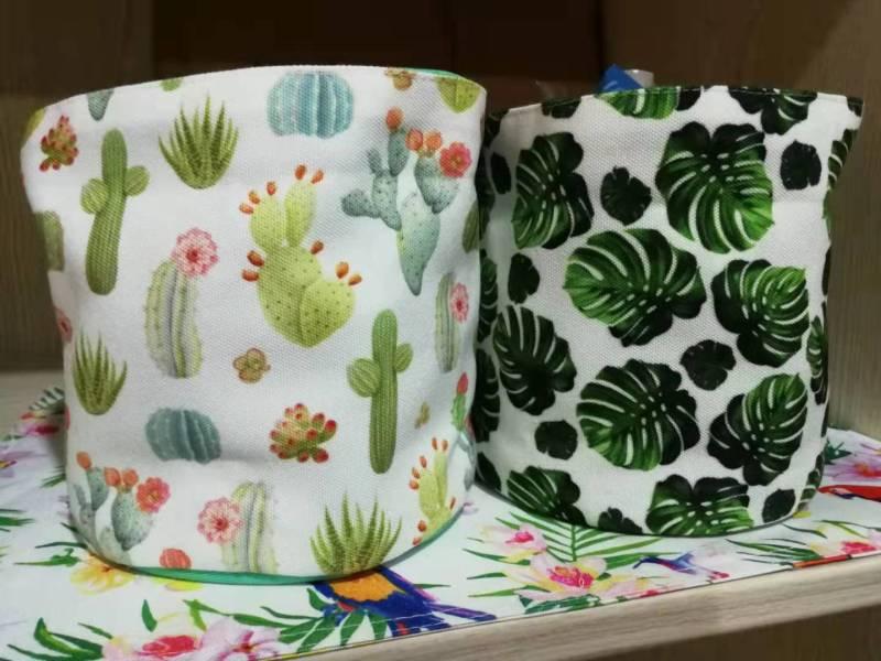 绿植小储物篓窗帘台布