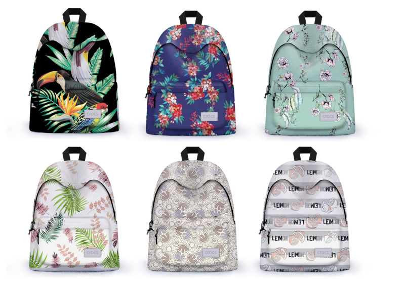 各种背包服装纺织印花图案