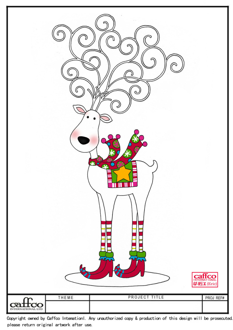 圣诞节麋鹿桌面摆饰