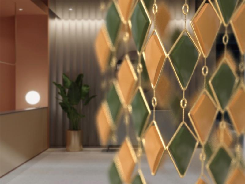 欧式后现代金属框水晶吊灯