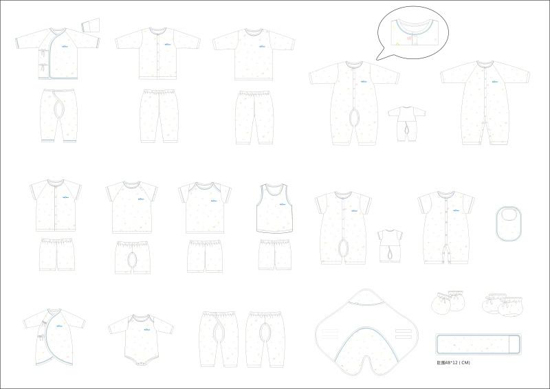 婴装系列设计-字母系列
