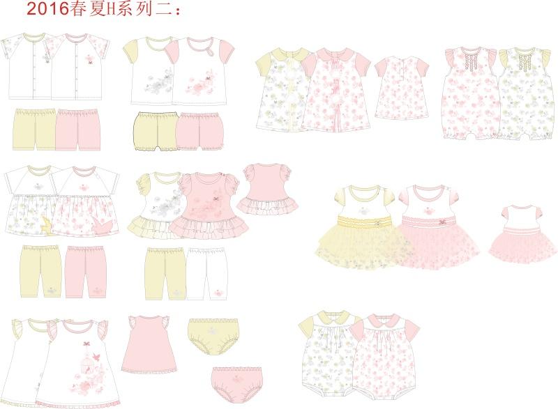 婴装系列设计-花鸟系列