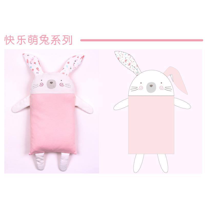 快乐萌兔枕头