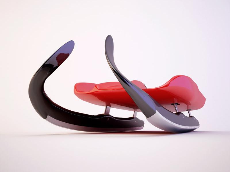 滑雪雪橇车产品设计