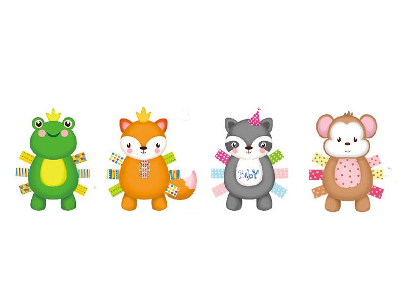 彩色动物宠物玩具
