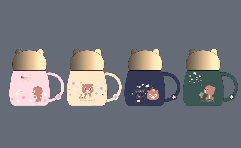 可爱少女心熊熊杯