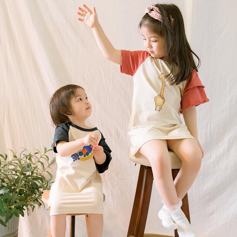小童女韩版百变印花款式