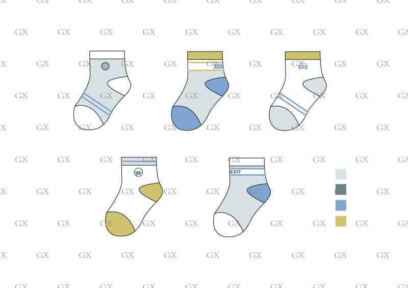 男童交通主题袜子