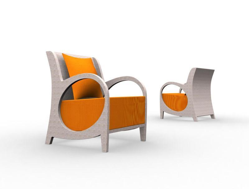 优雅椭圆造型的休闲座椅