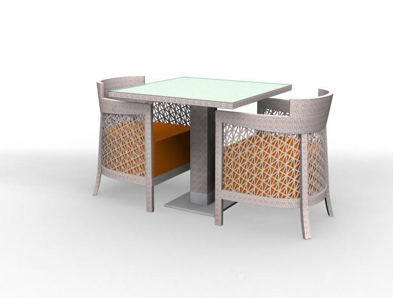 镂空编织餐台椅系列