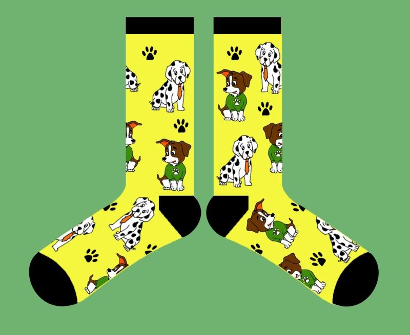 可爱的小狗袜子