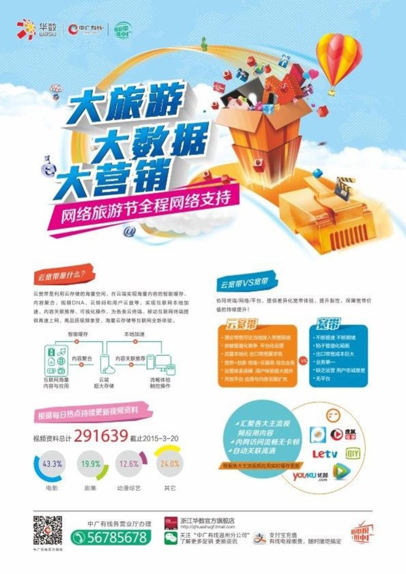 中广有线华硕活动宣传海报