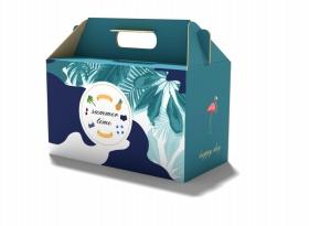 夏威夷蛋糕盒包装设计