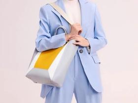 时尚撞色购物包