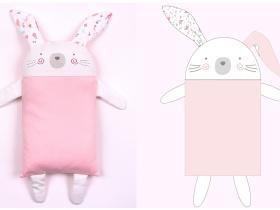 快樂萌兔枕頭