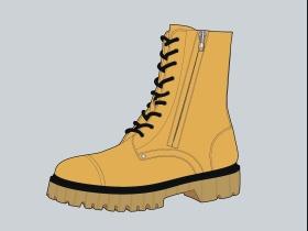 黄色中性女靴