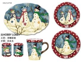 圣诞雪人餐具