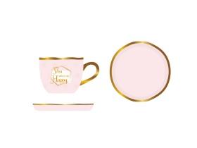 轻奢描金咖啡杯碟